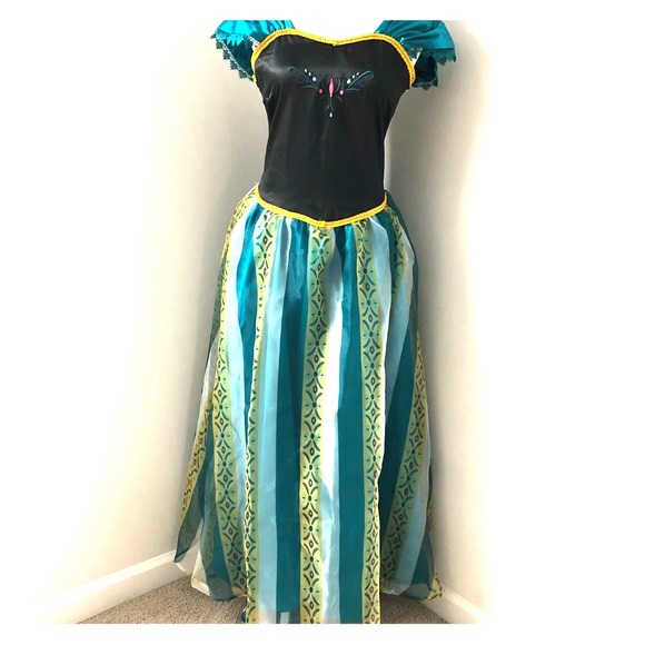 Disney Dresses & Skirts - Princess Anna Frozen Cosplay Dress Gown sz S